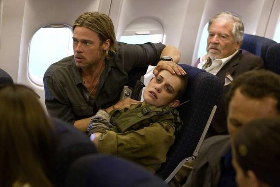WORLD WAR Z -- Havoc on an airplane.