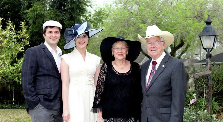 Junior Mad Hatter co-chairs Joey and Kelly Sanchez, left, look forward to joining honorary chairs Doris and Joe Gurecky at the event on Friday, May 30. Guests are encouraged to wear their best hats to the event. Photo: Courtesy Of Nancy Dunham
