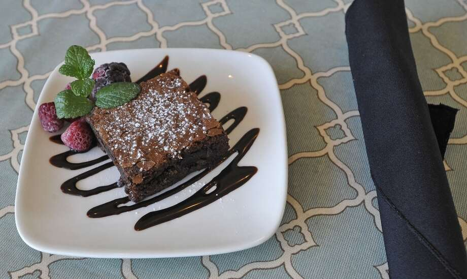 The Two Magnolias Cafe is located inside the Art Museum of Southeast Texas on Main Street in Beaumont. This is a desert dish, a brownie.  This is the restaurant of the week for the 10/04/12 edition of Cat 5. Dave Ryan/The Enterprise Photo: Dave Ryan/The Enterprise