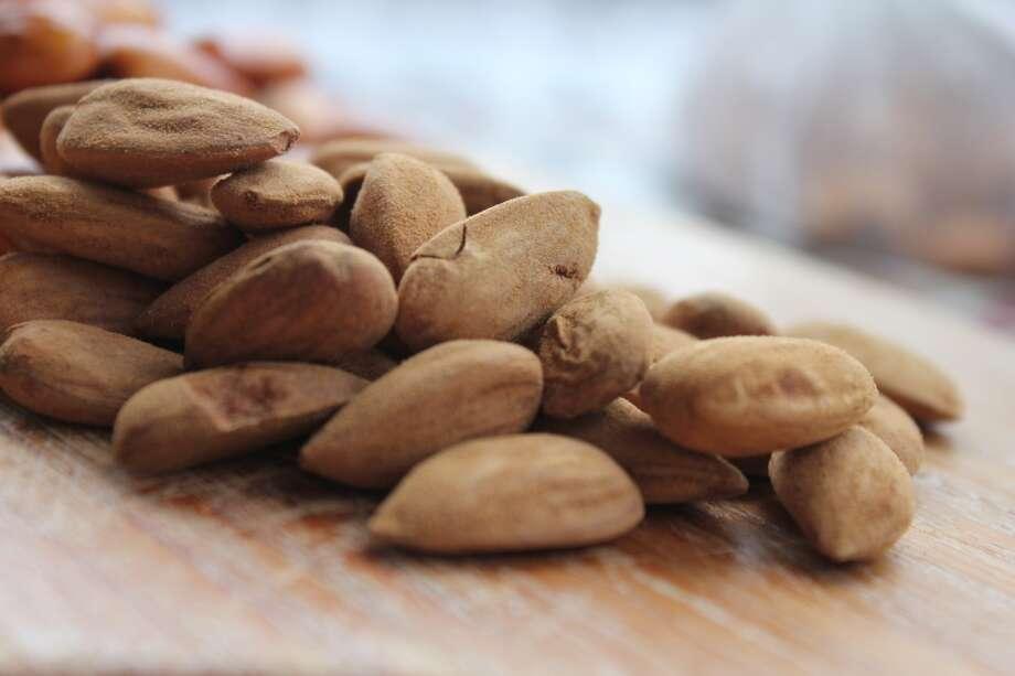 Almonds prior to soaking....