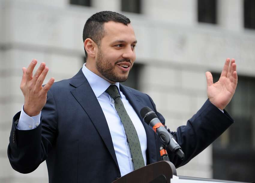 Mathew Shurka, survivor of conversion therapy efforts, speaks during the New York LGBT Equality & Justice Day 2014 rally hosted by Empire State Pride Agenda at the Capitol on Tuesday, April 29, 2014 in Albany, N.Y (Lori Van Buren / Times Union)