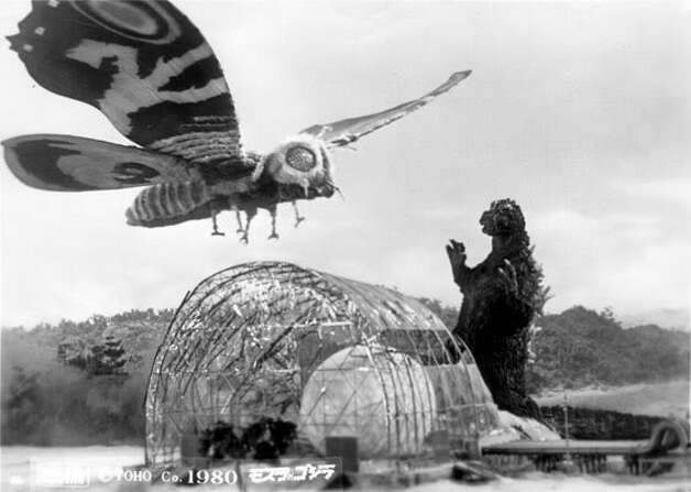 """""""Godzilla vs. Mothra"""" – When Tokyo is again threatened by Godzilla, officials believe the key to defeating the mutant may involve a giant moth goddess from a remote island. Two of Mothra's diminutive followers, who are looking for the insect's missing egg, broker the deal.Available Now! Photo: Netflix"""
