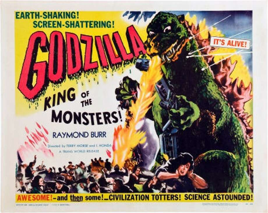 """Godzilla: King of the Monsters"" – When nuclear testing awakens a 400-foot-tall amphibian from its 1,000-year slumber, the giant's rampage reduces Tokyo to rubble. Raymond Burr drops in on this English-dubbed version of the Japanese gigantimonster flick that spawned many sequels. Available Now! Photo: Netflix"