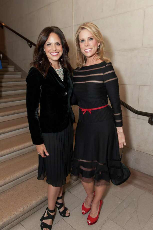 Soledad O'Brien and Cheryl Hines at the 2014 Goldman Environmental Prize Honors on April 28, 2014. The 25th Goldman Prize, the Nobel Prize of the green world, drew hundreds of eco-advocates and supporters to the War Memorial Opera House this week to honor a handful of winners from around the globe who were each awarded $175,000 to continue heroic efforts toward environmental preservation and improving the living and health conditions in communities where pollution from manufacturing is occurring unchecked. Among those who gave impassioned speeches were Bobby Kennedy, who decried big business and big government as spoilers of the environment; recording artist Graham Nash, who sang at the first awards in 1990, and Bonnie Raitt performed for the crowd. The Goldman Prize was created by the late Richard Goldman and Rhoda Goldman to encourage environmentalism. Photo: Susana Bates For Drew Altizer, Drew Altizer Photography / Drew Altizer Photography