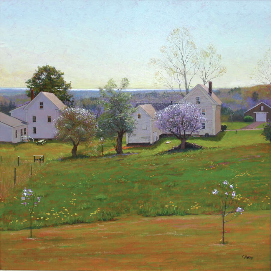 ìDandelions and Apple Blossoms,î by Thomas Adkins, is among paintings on view in a new exhibit at the Gregory James Gallery in New Milford. Photo: Contributed Photo / The News-Times Contributed