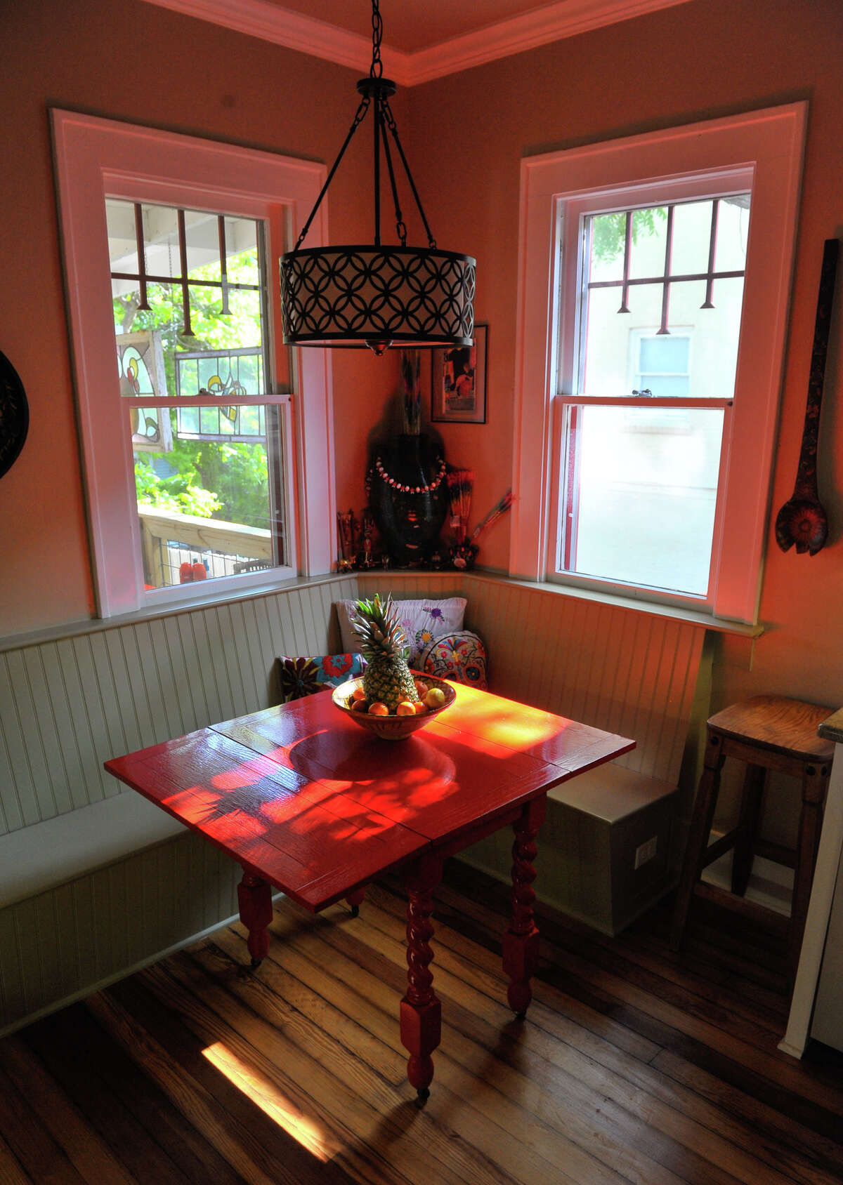 A breakfast nook in the kitchen of the Ruthie Foultz home.