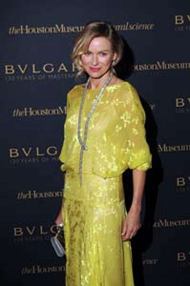"Naomi Watts at the premiere gala for the opening of ""Bulgari: 130 years of Masterpieces"" at the Houston Museum of Natural Science Wednesday April 30, 2014.(Dave Rossman photo) Photo: Dave Rossman, For The Houston Chronicle / © 2014 Dave Rossman"