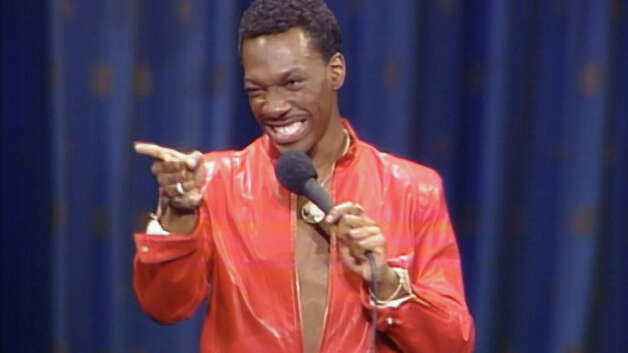 """""""Eddie Murphy: Delirious"""" – Flashing the wild stand-up comedy that made him a household name, Eddie Murphy unleashes uncensored observations and parodies in this 1983 live show. Murphy's outrageous act varies from his vivid childhood memories to his classic impressions.Available Now! Photo: Netflix"""