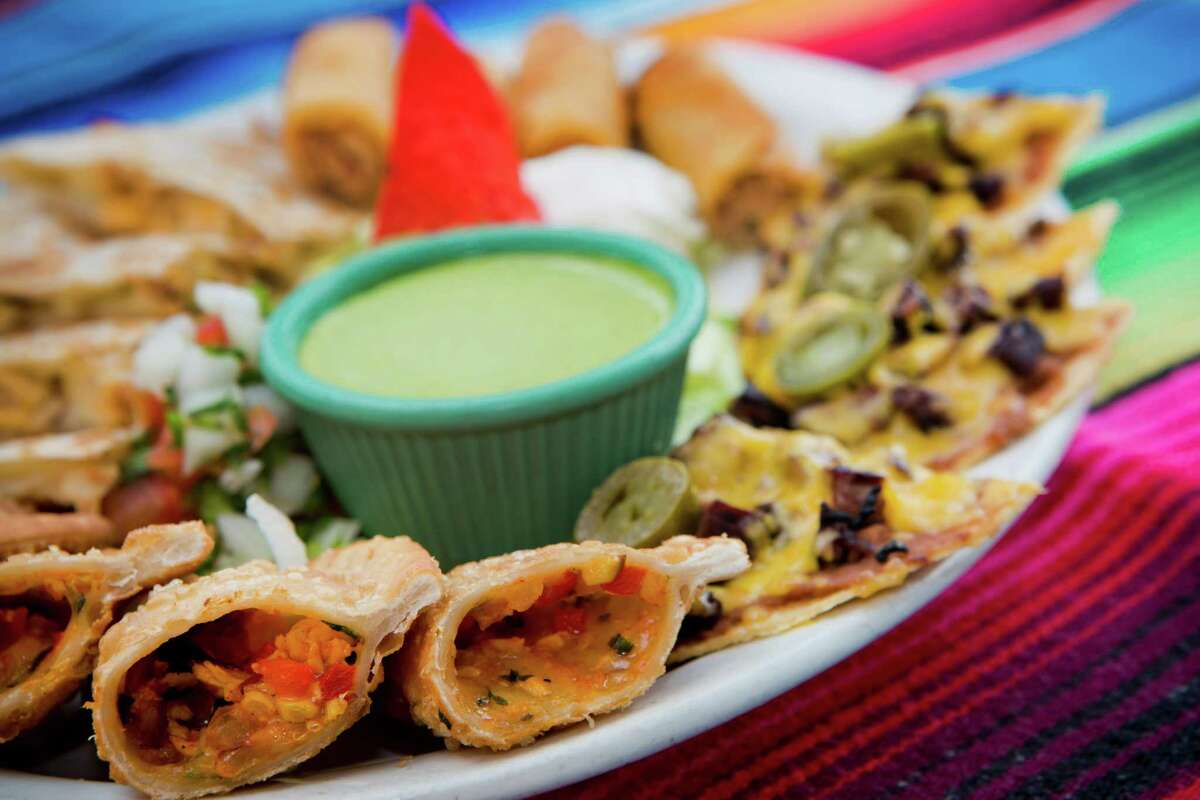 Pico's Cuisine: Mexican, Tex-Mex Dish: four chicken quesadillas, four beef fajita nachos, two chicken flautas and two chicken empanadas, served with guacamole, pico de gallo and cilantro dressing Entree price: $$ Where: 5941 Bellaire Phone: 713-662-8383 Website:picos.net