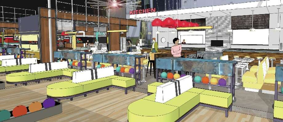 Bowlero will have a full-service kitchen and multiple bars. Photo: Courtesy Bowlero