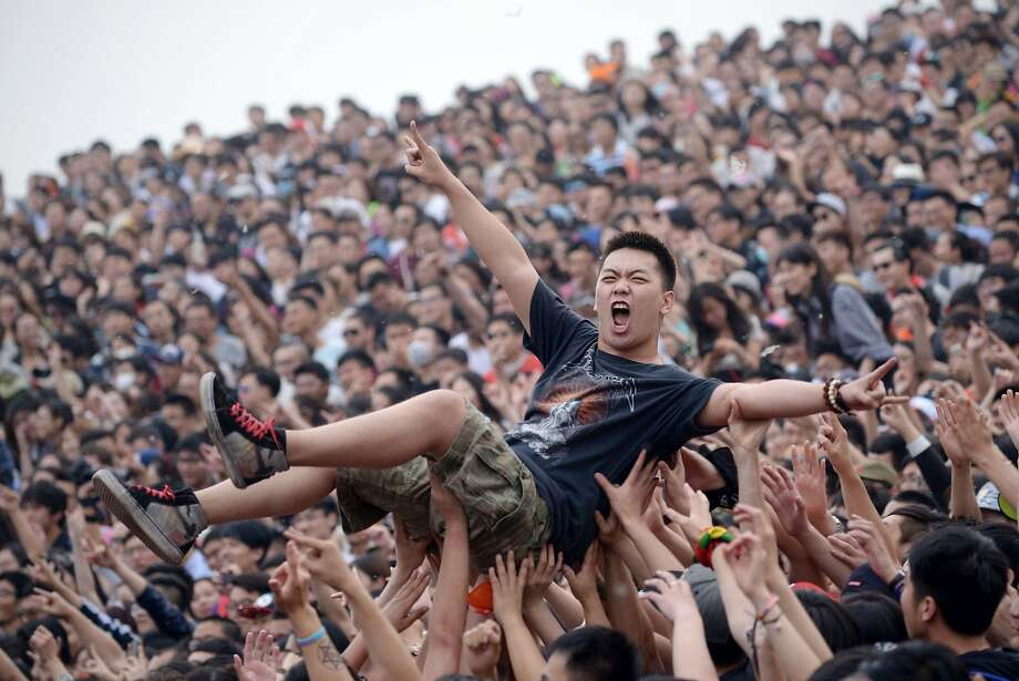 See them at the Dissension Will Not Be Tolerated Stage: Among the bands scheduled to play at the Strawberry Music Festival in Beijing are Gum Bleed, Lacerate Band, Scream Maker, Suffocate Band, Keep Silent and It Never Happened. Photo: Wang Zhao, AFP/Getty Images