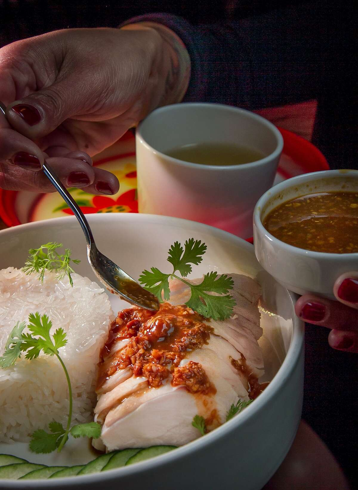 The Chicken Fat Rice at Kin Khao in San Francisco, Calif., is seen on Monday, April 28th, 2014.