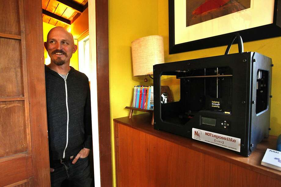 Mick Ebeling is CEO and founder of Not Impossible, which creates prosthetics with 3-D printers. Photo: Genaro Molina, McClatchy-Tribune News Service