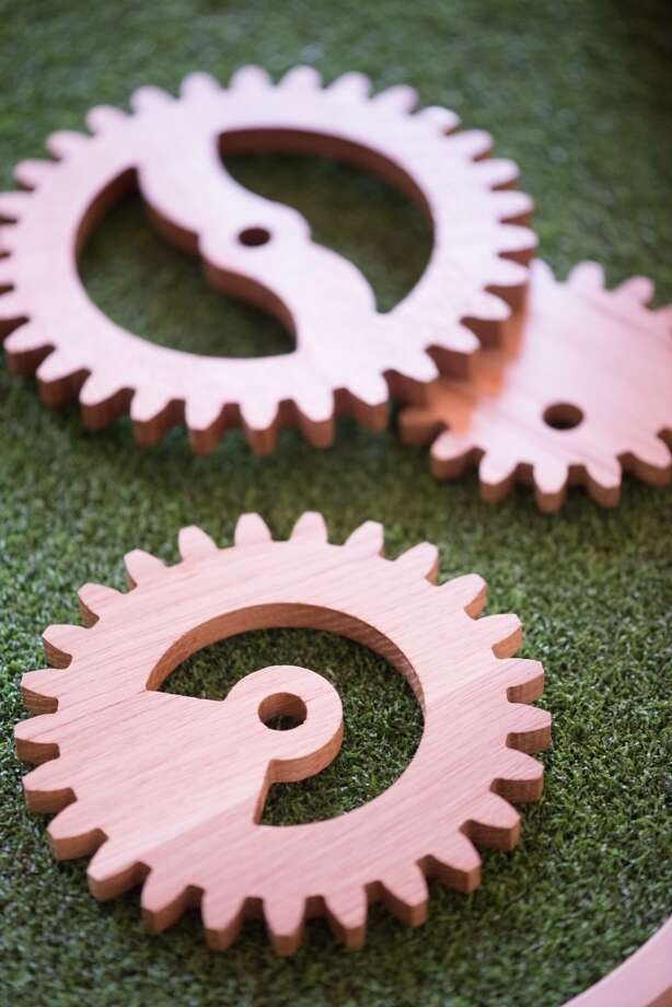 Wooden gears. Photo: Kristen Loken