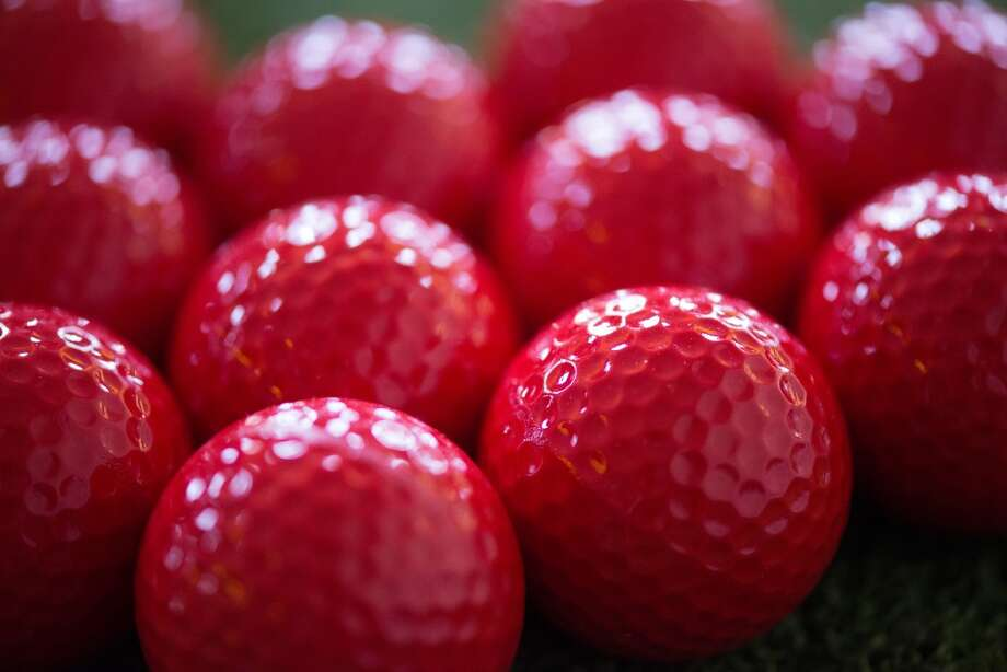 These would be red golf balls. Photo: Kristen Loken