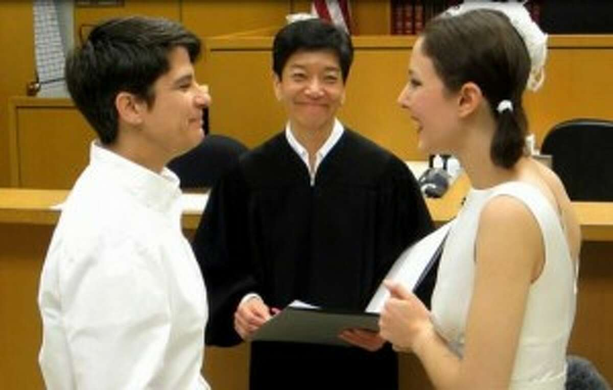 King County Superior Court Judge Mary Yu married Stephanie Lyon and Margaret Ryan on Dec. 9, 2012, the first day a same-sex ceremony could be performed in Washington State. Yu is now a justice of the Washington State Supreme Court.
