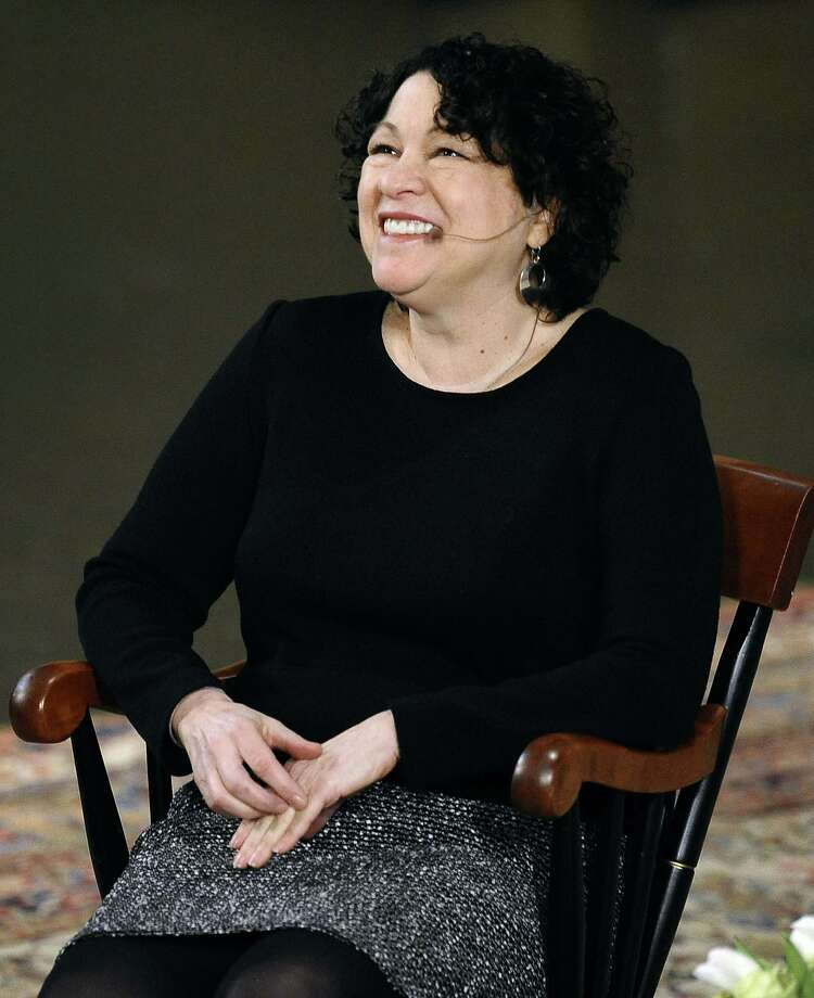 What she did not say: That Supreme Court Justice Sonia Sotomayor's colleagues chose to prop up majority privileges. Photo: Jessica Hill / Associated Press / FR125654 AP