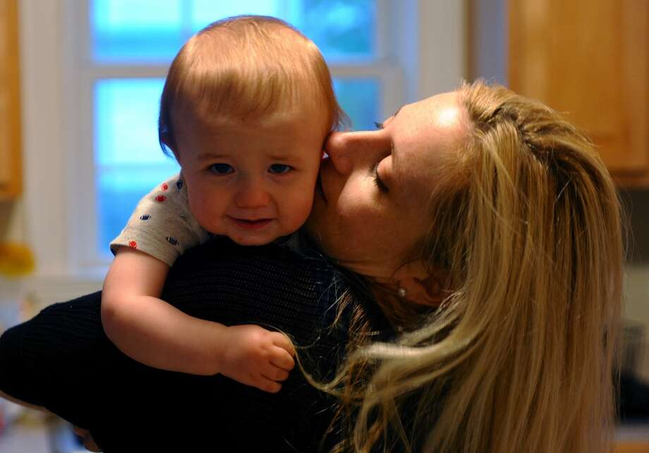 No. 7: Fairfield has the seventh highest percent of women between the ages of 35 and 50 having children of all towns in Southwestern Connecticut where at least 100 mothers gave birth in a recent year, according to census data. The national average is 20 percent.    Marisa Torrieri Bloom spends some time with her son Nathan, 9 months, after work at their home on Andrassy Avenue in Fairfield, Conn. on Wednesday May 8, 2013. The Bloom family is part of a trend where couples are waiting until later in life to have children. Photo: Christian Abraham