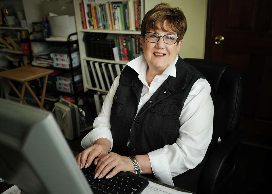 Personal historian Judy Goldwyn runs her memoir-writing business, As You Recall, out of her Milford home. Photo: Brian A. Pounds / Connecticut Post