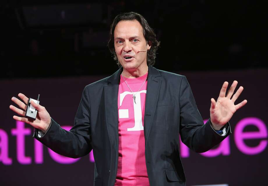 T-Mobile CEO John Legere reportedly is the leading candidate to run the company if it merges with rival wireless carrier Sprint. Photo: John Moore, Getty Images