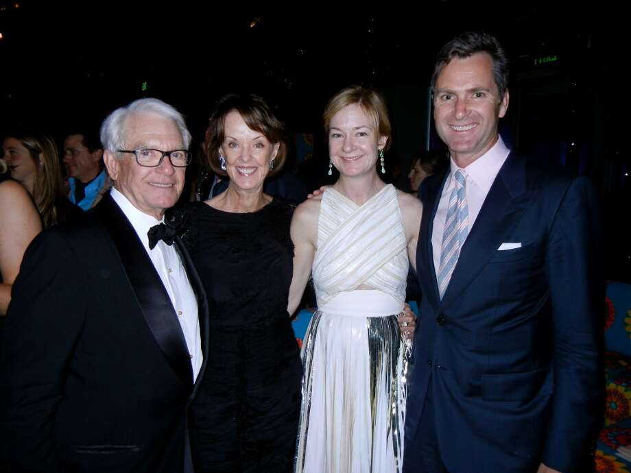 SFMOMA Board Chairman Charles Schwab (left) with his wife, Modern Ball Honorary chairwoman Helen Schwab, and daughter and son-in-law, Katie and Matt Paige.
