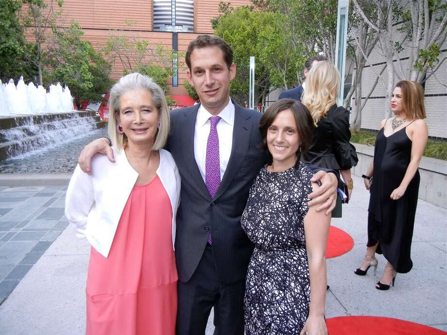 Modern Ball sponsor Mimi Haas (left) with her son and daughter-in-law, Daniel Lurie and Becca Prowda.