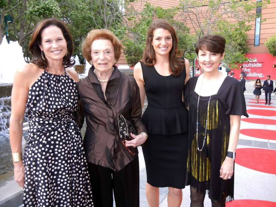 Randi Fisher (left) with her mother-in-law, Modern Ball sponsor Doris Fisher, daughter, Lexie Mark, and sister-in-law, SF Symphony President Sako Fisher.