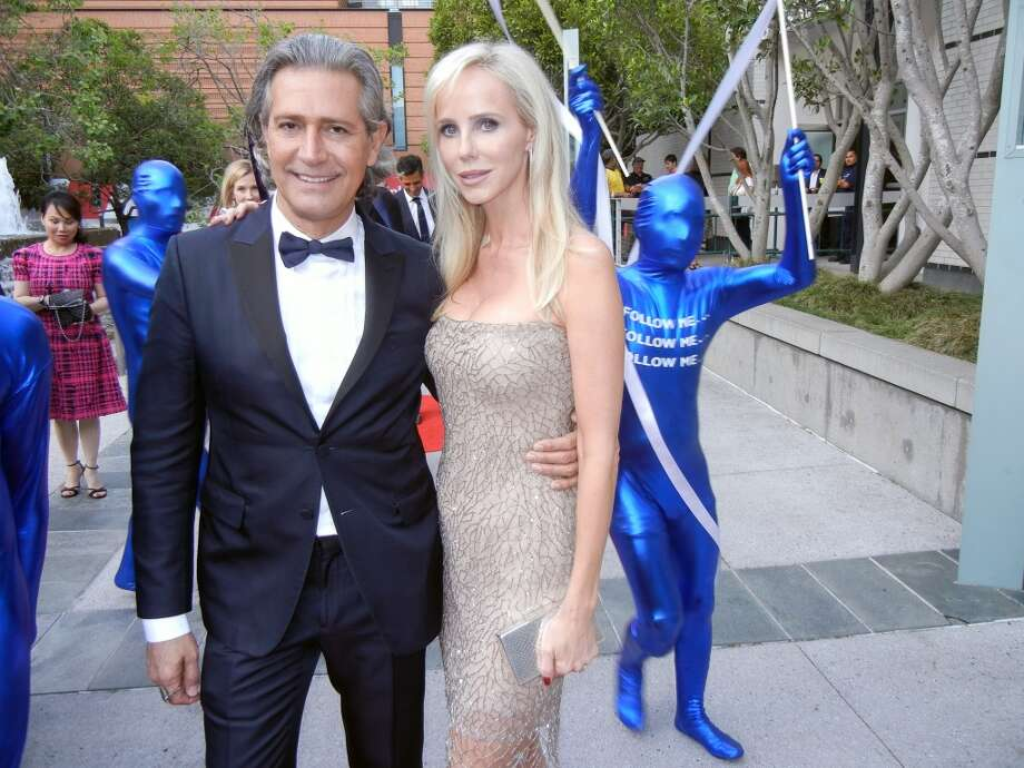 Valentino Brand Ambassador Carlos Souza and Vanessa Getty.