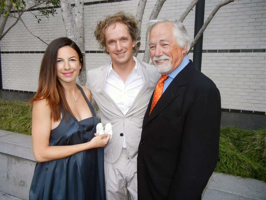 Art advisor Sabrina Buell (left) with her partner, industrial designer Yves Behar, and her dad, Rec & Park Commission President Mark Buell.