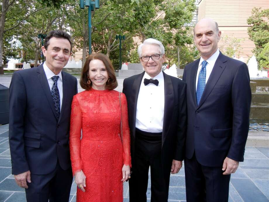 SFMOMA Director Neal Benezra (left) with Christine Lamond, Charles Schwab and SFMOMA Board President Bob Fisher.