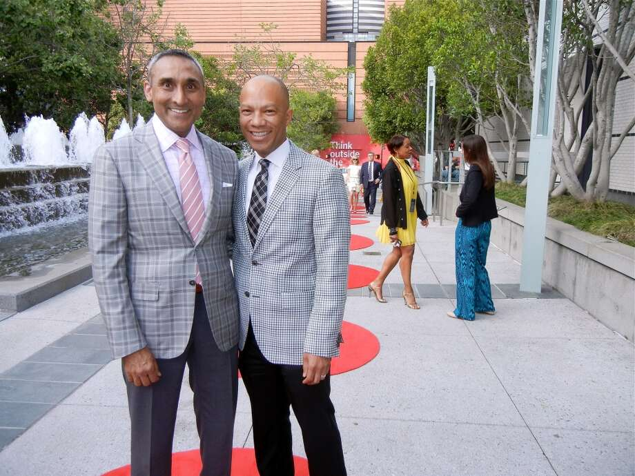 Inder Dhillon (left) and his husband, AT &T President Ken McNelly