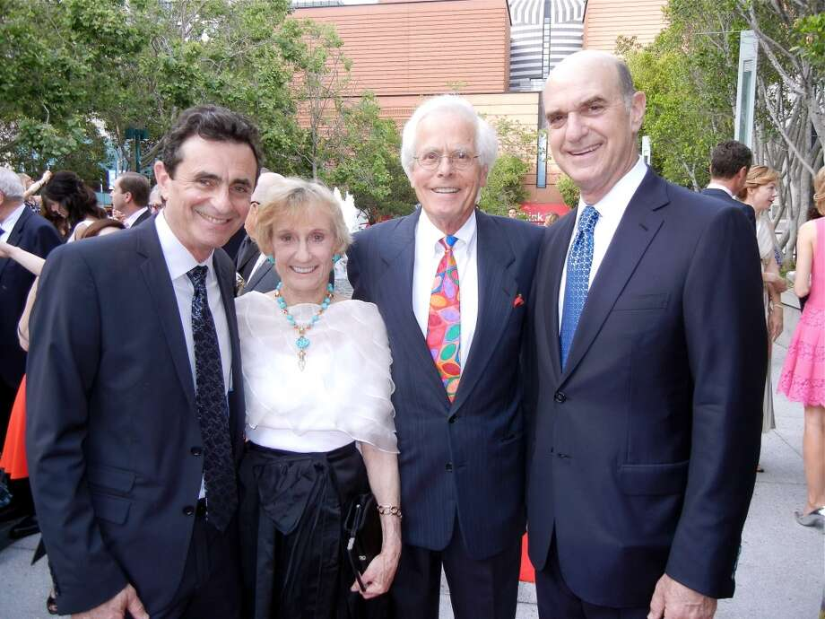 Neal Benezra (left) with Nancy and Joachim Bechtle and Bob Fisher.