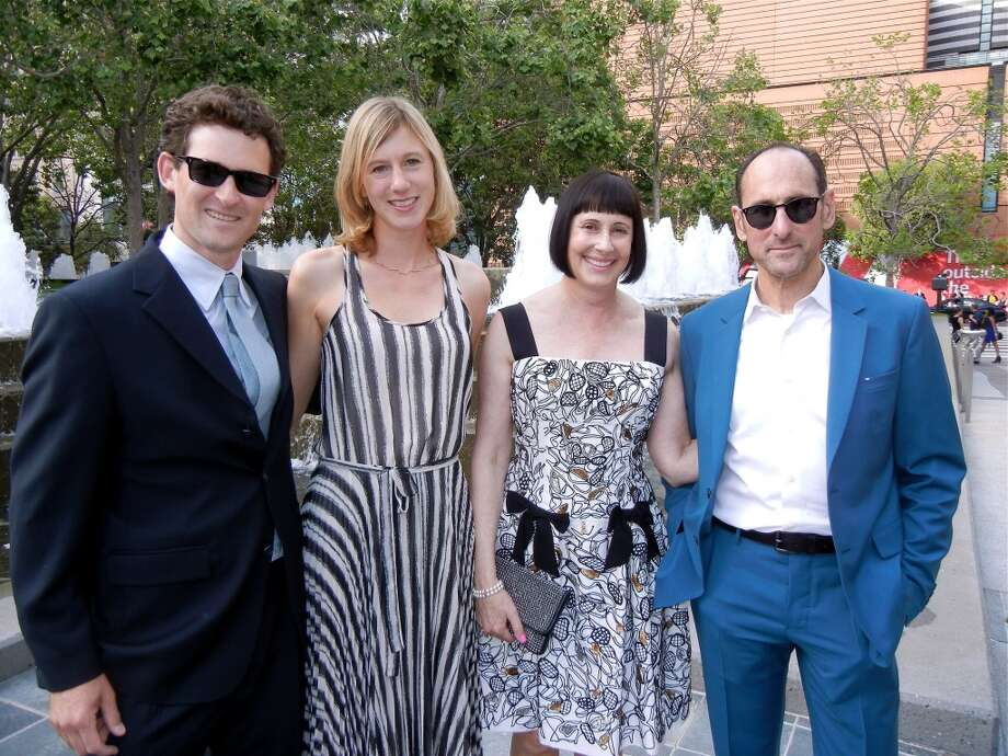 Aaron Silverstein and his wife, Caroline (at left), with his stepmom and dad, SFMOMA Trustee Carla Emil and Rich Silverstein.
