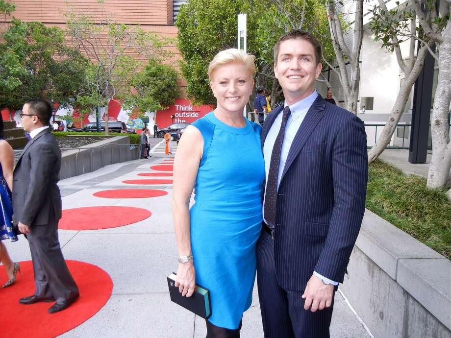 SFMOMA Trustee Carlie Wilmans and her partner, Nick Childress.