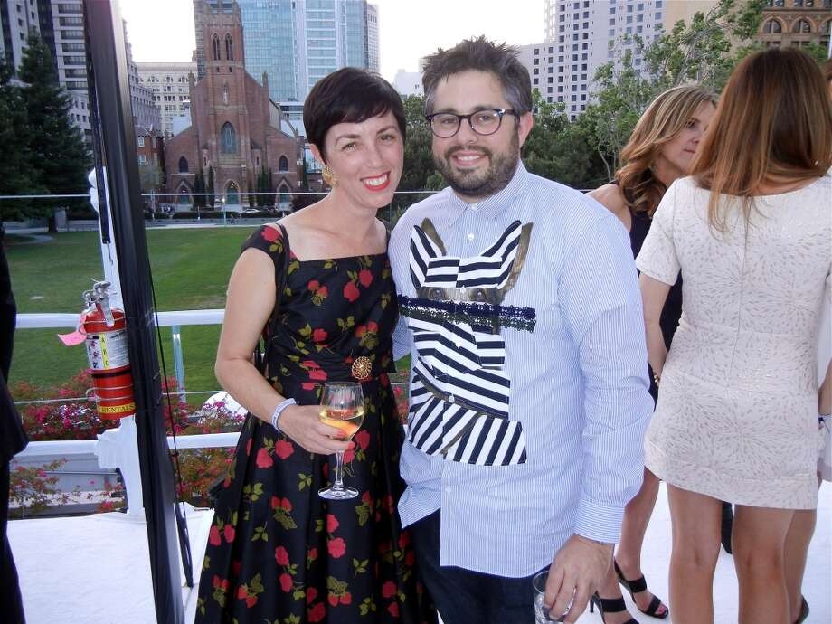 AT&T Social Innovator Anne Wintroub (left) with SF Protocol Director Matthew Goudeau.