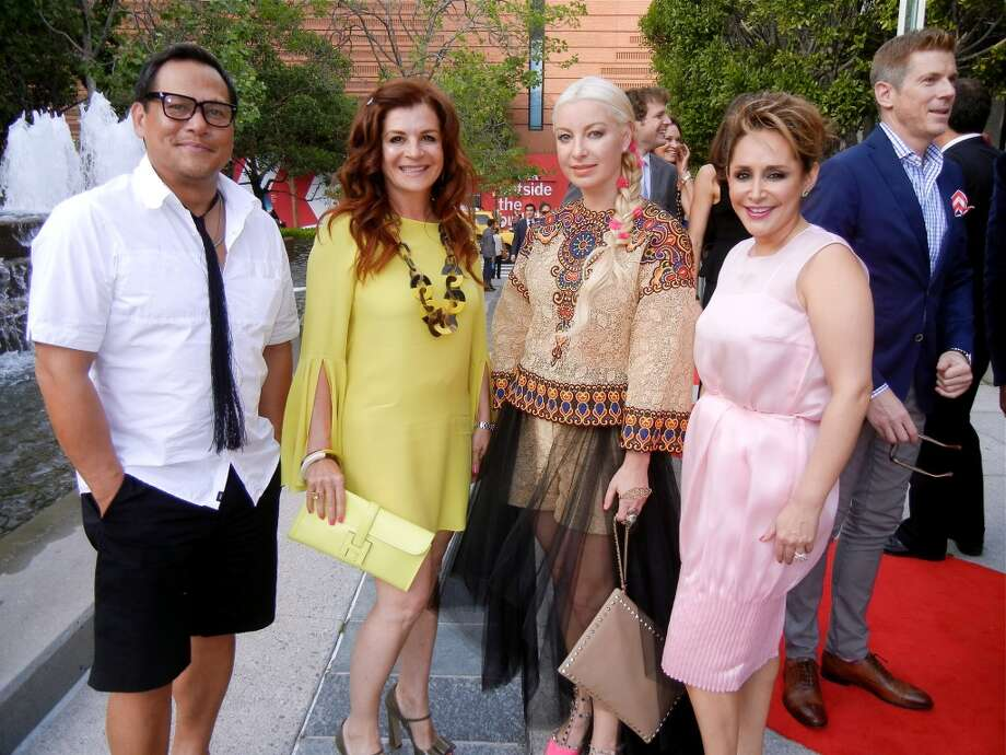 Ken Picada (left) with Farah Makras (in Hermes) Sonya Molodetskaya (in Valentino top) and Brenda Zarate (in Dior).