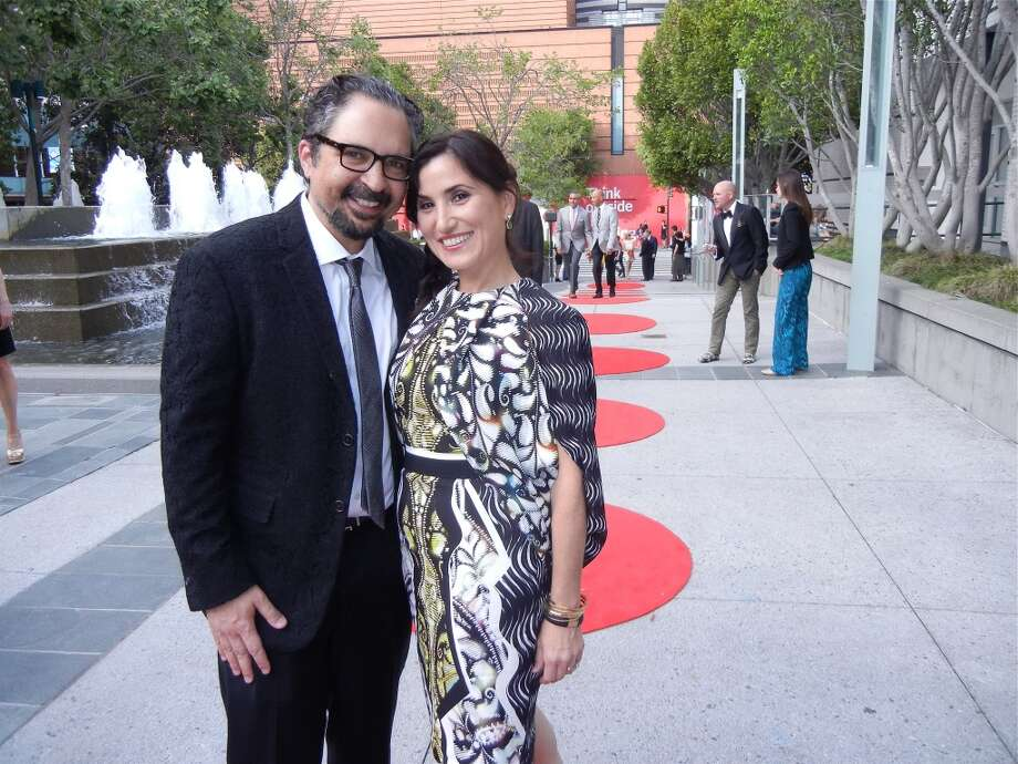 James Joaquin and his wife, Zem Joaquin (in an artful Peter Pilotto cocktail dress).