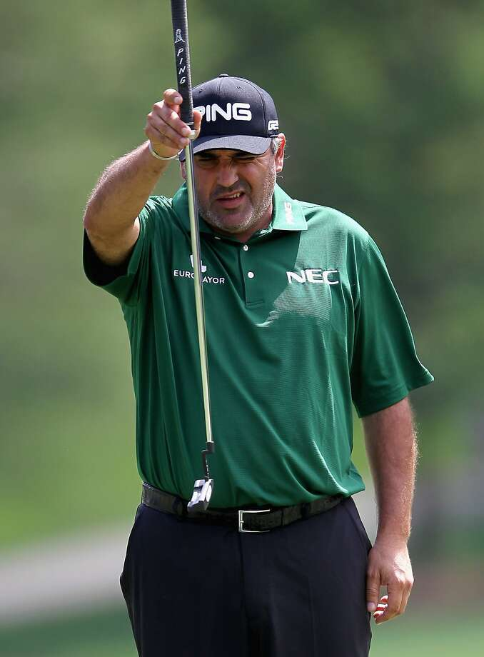 Angel Cabrera made seven birdies, including a 40-footer, and shot 66. Photo: Tyler Lecka, Getty Images