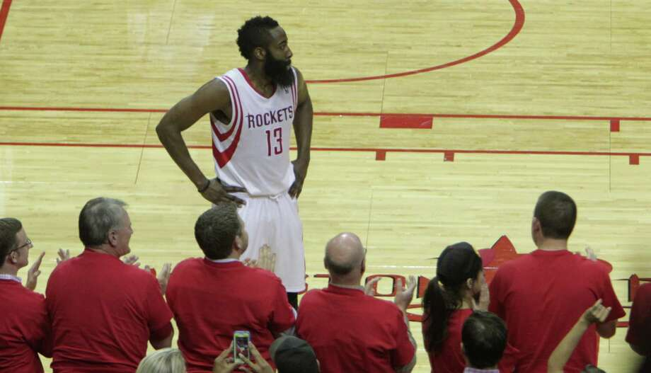 Rockets fans see the unmistakable visage of James Harden on the court but don't recognize that player struggling to make shots. Photo: James Nielsen, Staff / © 2014  Houston Chronicle