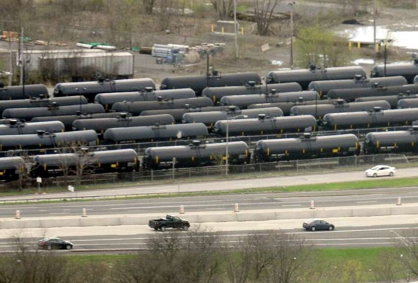 Oil tanker cars in The Port of Albany on Thursday May 1, 2014 in Albany, N.Y. (Michael P. Farrell/Times Union)