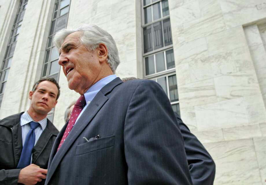 Former Senate Majority Leader Joseph Bruno walks past members of the media after leaving U.S. District Court after being indicted for a second time on Thursday afternoon May 3, 2012 in Albany, NY.   (Philip Kamrass / Times Union ) Photo: Philip Kamrass / 00017549A