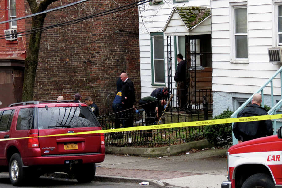 The shooting was on Second Ave. near Clinton St. in Albany around 6:15 p.m.........male subject  no age. Thursday, May 1, 2014 (Tom Heffernan Sr.) Photo: Picasa