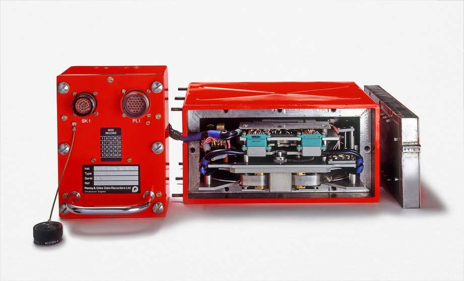 Black box Also known as a flight recorder, the black box records pilot conversations and information about controls. This is obviously important information for people trying to understand why something went wrong with a given flight. Unfortunately, the physical box has to be located to read its reports. This is problematic when a plane cannot be located. Photo: Peter Chadwick, Getty Images