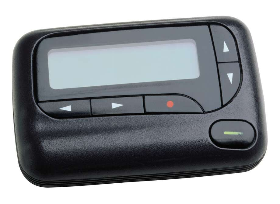 Pager Oh, the pager. A beeping little device that shares just enough information to alert users that they need to use a different device -- often a phone -- or head toward a certain location. It's still hanging on. Photo: Siede Preis, Getty Images