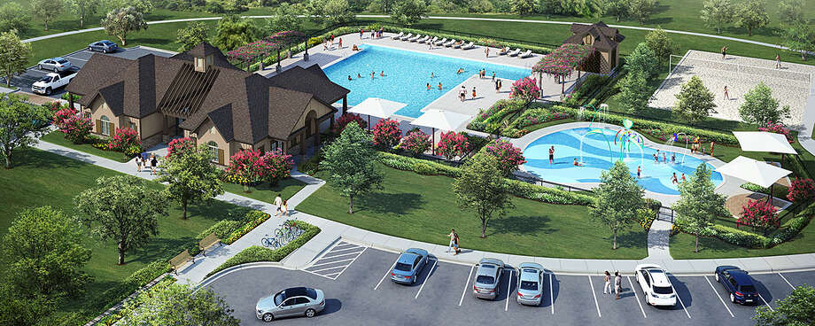 West Ranch offers residents amenities that include a recreation center with a pool.