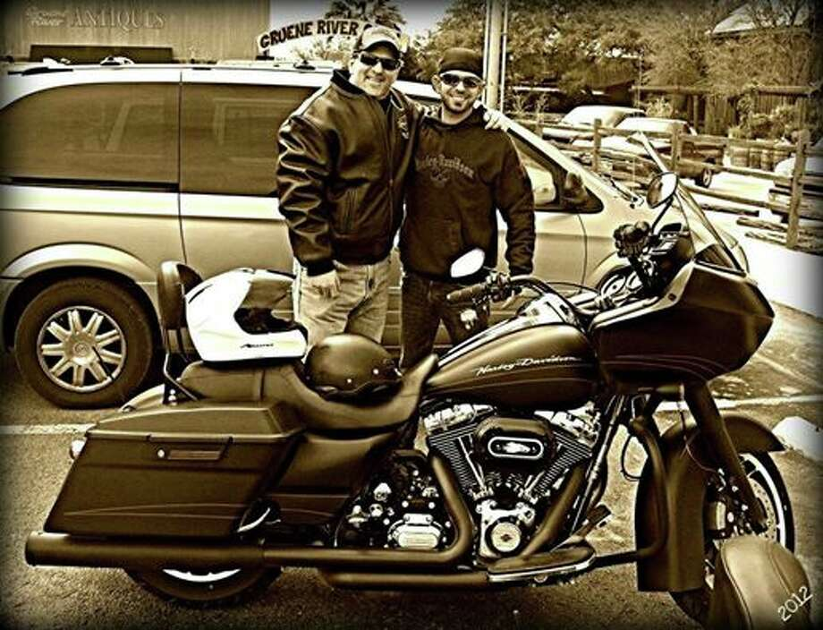 Radio talk host Trey Ware shared a love of motorcycles with his son, Justin. Photo: Courtesy