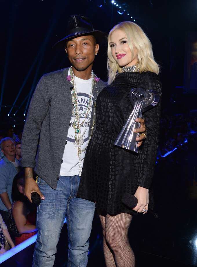 Musicians Pharrell Williams and Gwen Stefani attend the iHeartRadio Music Awards held at the Shrine Auditorium on May 1, 2014. Photo: Larry Busacca/NBC, NBCU Photo Bank Via Getty Images