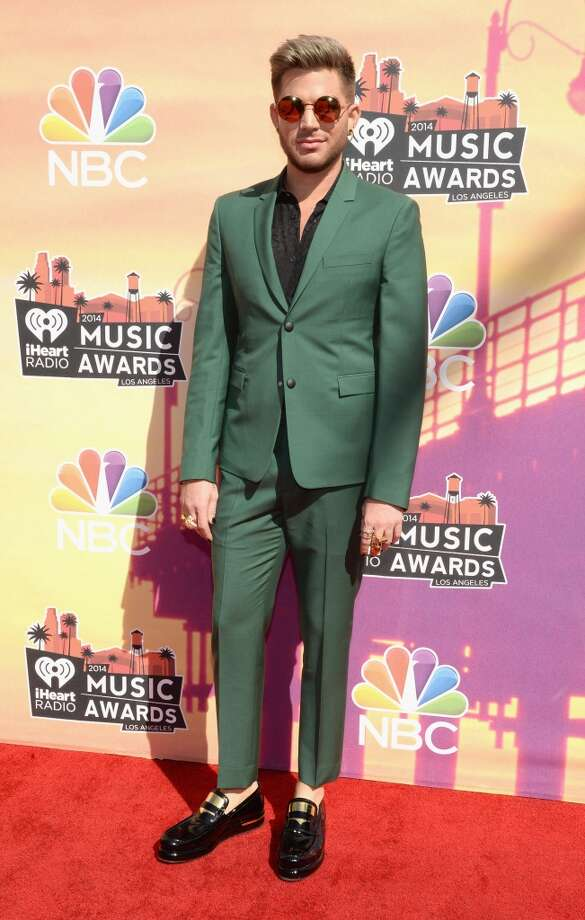 Singer Adam Lambert arrives at the iHeartRadio Music Awards held at the Shrine Auditorium on May 1, 2014. Photo: Larry Busacca/NBC, NBCU Photo Bank Via Getty Images