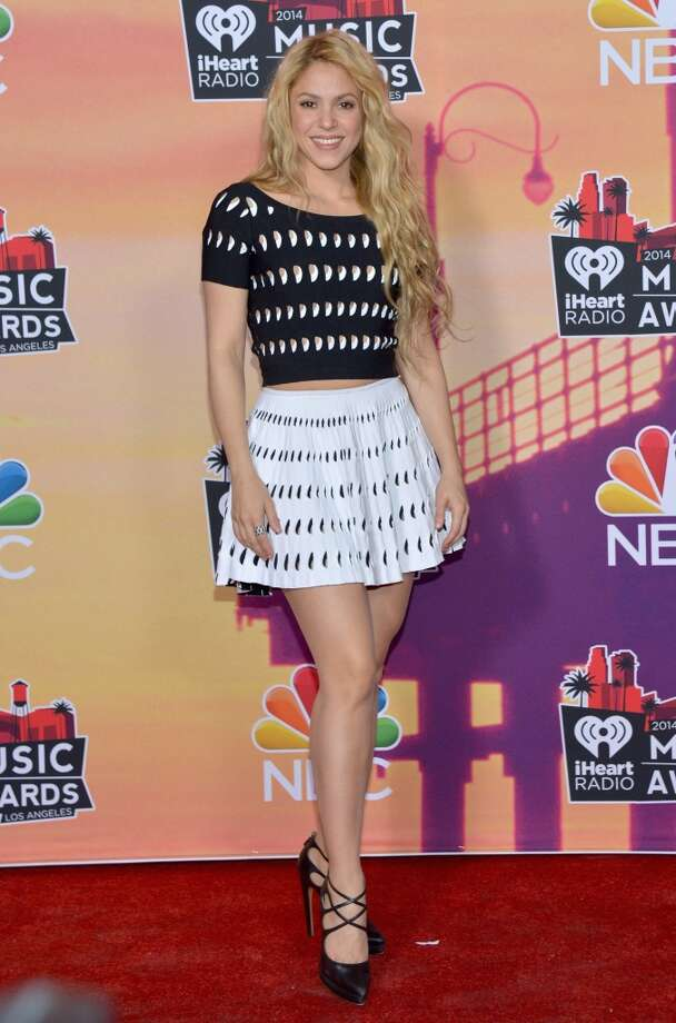 Recording artist Shakira poses in the press room at the iHeartRadio Music Awards held at the Shrine Auditorium on May 1, 2014. Photo: Michael Buckner/NBC, NBCU Photo Bank Via Getty Images