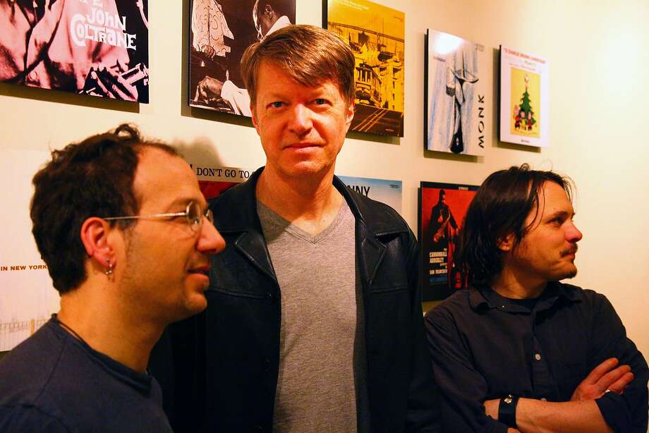 The Nels Cline Singers are drummer Scott Amendola (left), Nels Cline and bassist Trevor Dunn. Photo: Mimi Chakarova